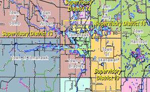Lincoln County Supervisory Districts